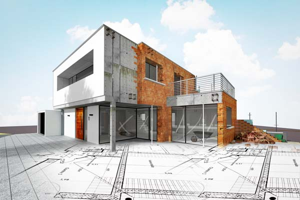 Vertrieb Bauträger Haus in Bauphase